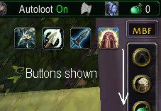 MBF : Buttons are shown